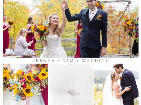 Sam + Brenda's Fall Lake Bomoseen Wedding