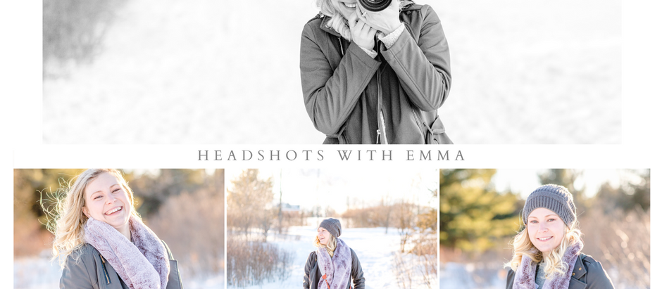 Winter Headshots with Emma of The Great Blue Photo Co.