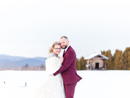 Meagan and Greg's Winter Orchard Wedding