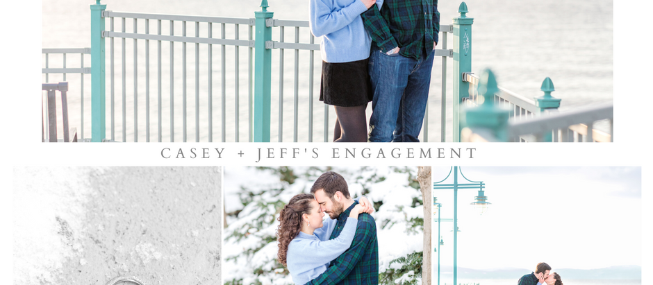 Casey and Jeff's Winter Engagement Photos