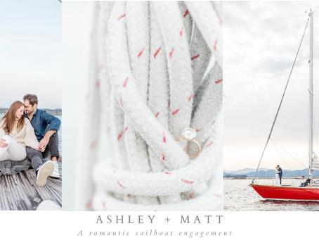 Ashley and Matt's Lake Champlain Sailboat Engagement