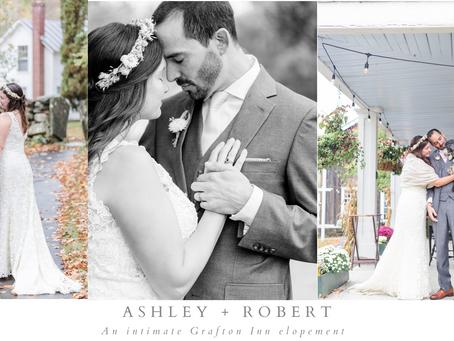 Ashley and Robert's Fall Grafton Inn Elopement