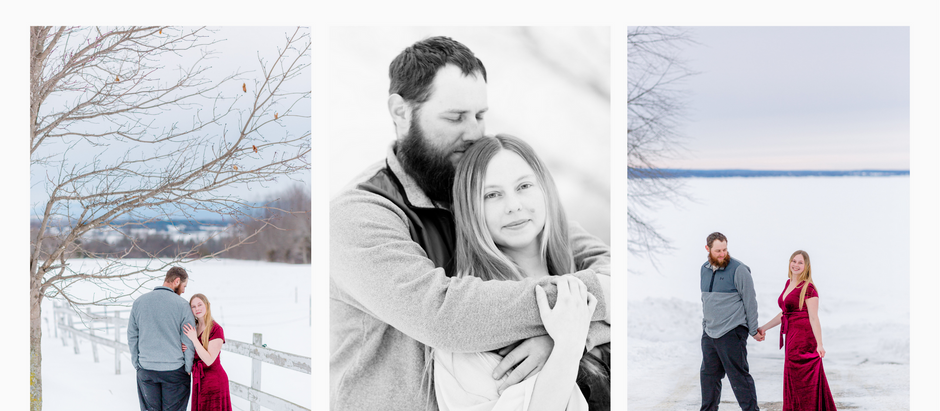 Victoria and Matthew's Winter Engagement Session
