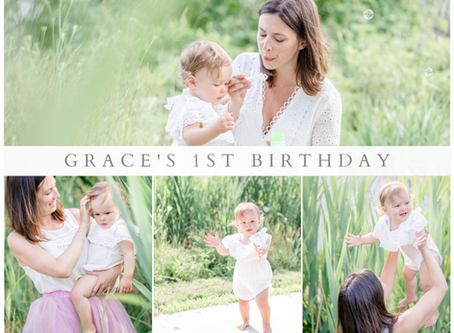 Grace's First Birthday Session in Burlington, Vermont