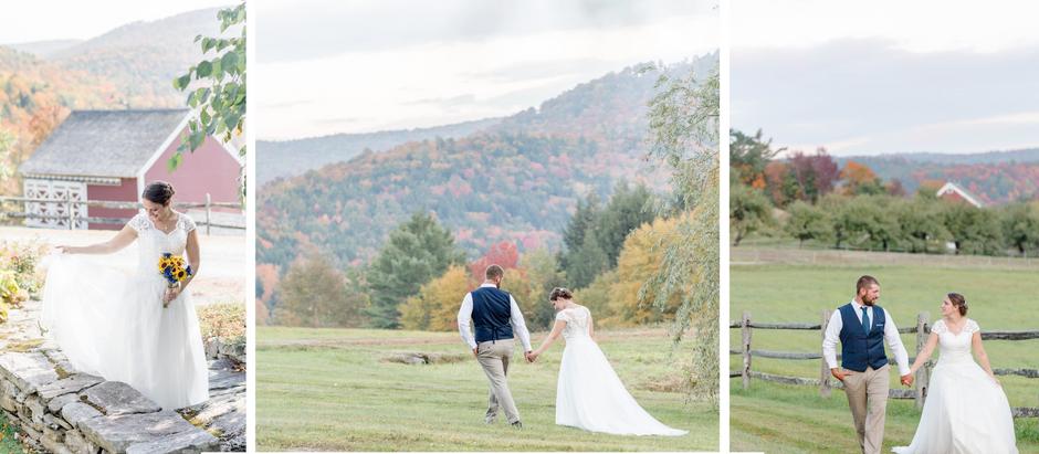 Cara + AJ's Fall Vermont Wedding