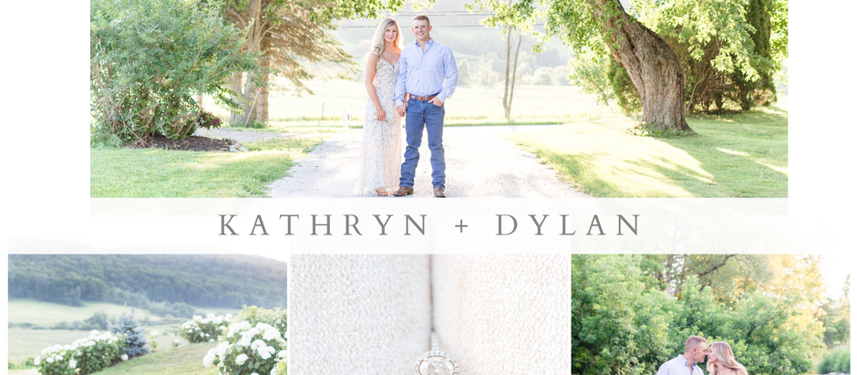 Kathryn + Dylan: Engagement at the Vermont Swiss and Bloom Farm