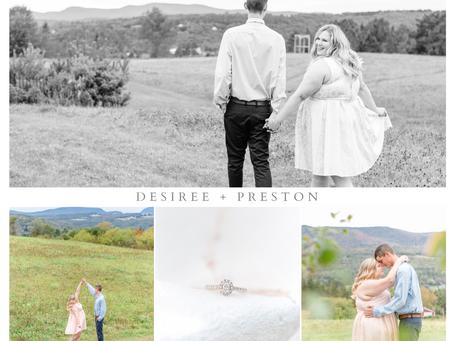 Desiree + Preston's Northeast Kingdom Engagement Session