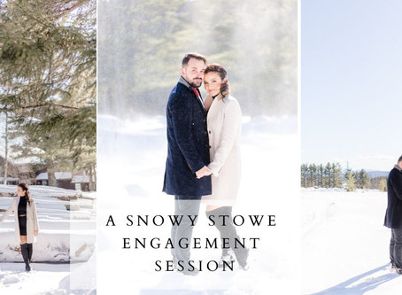 Snowy Stowe Engagement Session