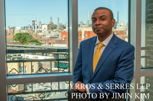 Photo of Shiva Sukhu, an associate attorney at Pyrros & Serres LLP, a law firm in Astoria, Queens, New York City. Photo taken 6/23/21.