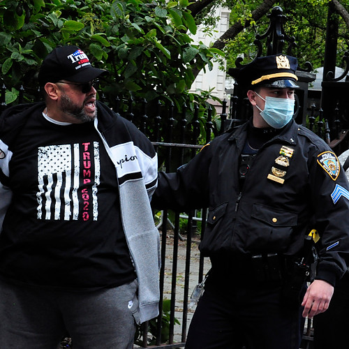 Arrests at Reopen NY Rally