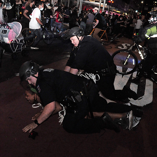 Arrests at George Floyd Rally - Manhattan, NYC