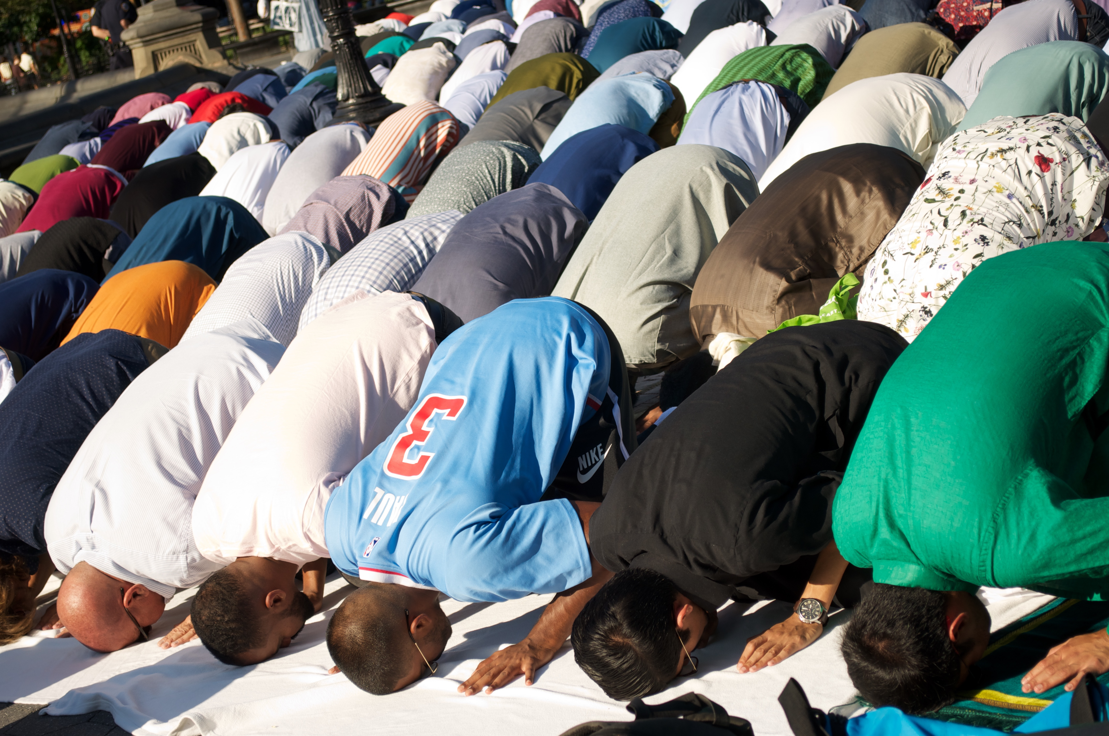 Locals Pray on Eid al-Adha