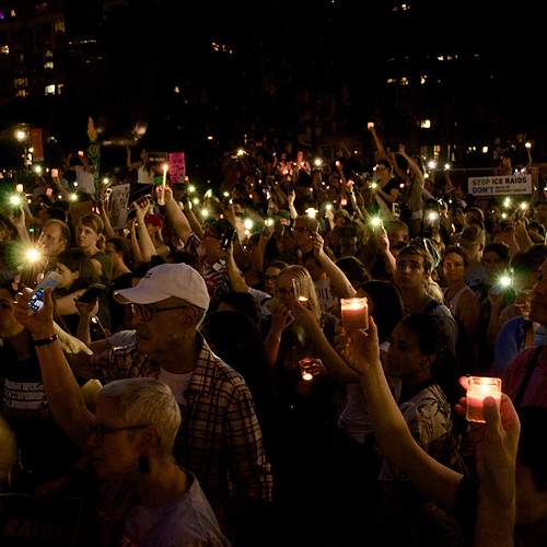 Lights for Liberty Anti-ICE Rally
