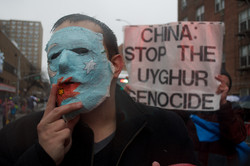 Uyghur Supporters March in Flushing