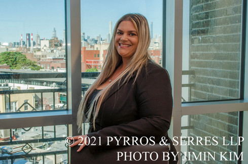 Photo of Lori Campbell, office manager at Pyrros & Serres LLP, a law firm in Astoria, Queens, New York City. Photo taken 6/23/21.