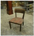 toolipõhja katte vahetus, toolipõhja polstri uuendamine, vatipolster, tooli puitosade restaureerimine, mööbli restaureerimine, tooli restaureerimine
