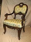 antiik tugitool,antiikmööbel, sadulsepp, sadulsepatööd, tugitooli restaureerimine, restaureeritud mööbel