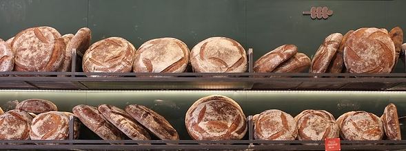 Assortment of Fresh Baked Bread at Breads Bakery NYC
