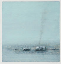 Eric Barth (Contemporary) 'Asylum', 2020 Oil pastel and soft pastel on paper 9 x 8 3/4 inches  $1,500