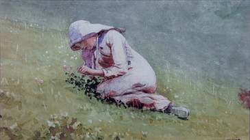 Girl Picking Clober (Houghton Farm)