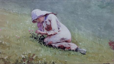 Girl Picking Clober (Houghton Farm)