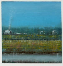 Eric Barth (Contemporary) 'Familiar Ground', 2020 Oil pastel and soft pastel on paper 9 x 8 3/4 inches  $1,500