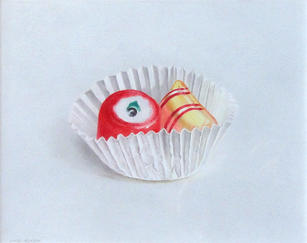 """Lowell Tolstedt """"Red and Yellow Hard Candies"""", 2002 Colored pencil 5 ¾ x 7 ¼ inches Signed lower left $2,500"""