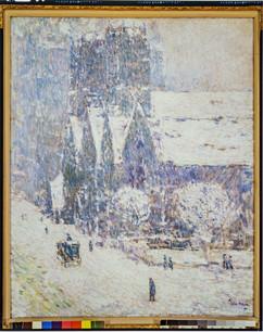 Calvary Church in the Snow