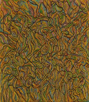 Elsie Sanchez 'Dialogue No. 13', 2015 Oil on canvas 32 x 28 inches     $2,900