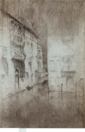"""James Abbott McNeill Whistler """"Nocturne Palaces"""", 1879-1880 Etching and drypoint 11 1/2 x 7 3/4 inches Ref: Kennedy 202, sixth state Signed in pencil on the tab with the artist's butterfly and inscribed """"imp"""" at lower left"""