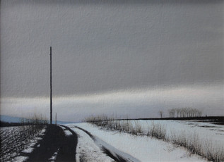 Alan Gough 'Coming Off Reub Hill', 2020 Oil on panel 9 x 12 inches  $1,000
