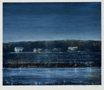 Eric Barth (Contemporary) 'Sheltered From The Smoke', 2020 Oil pastel and soft pastel on paper 3 3/4 x 4 3/4 inches  $650