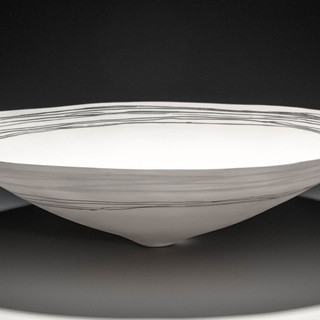 Carol Snyder (Contemporary) 'Linear Landscape', 2015 Wheel-thrown, high-fired porcelain 5h x 14w inches  $1,000