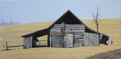 Willard Reader 'Peak Roof Barn', 2020 Acrylic 10 x 20 inches  $400