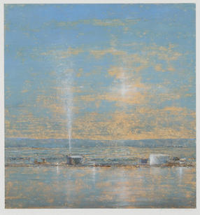 Eric Barth (Contemporary) 'Surrendering To The Day', 2020 Oil pastel and soft pastel on paper 8 3/4 x 8 1/4 inches  $1,500