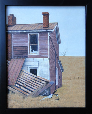 """Will Reader """"Farmhouse"""", 2020 10 3/4 x 13 3/4 inches  Sold"""