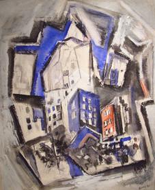 "John Marin ""New York Series"", 1927 Tempera on paper 26 1/4 x 21 1/4 inches"