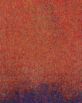 Elsie Sanchez 'Blue Line', 2009 Oil on canvas 18 x 15 inches  Private Collection
