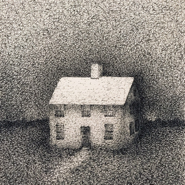 """Marc Lincewicz """"The Calming Place"""", 2017 Ink on paper 7 1/4 x 6 3/4 inches  $850"""