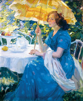 """Karl Albert Buehr """"Expectancy"""", c. 1910 Oil on canvas  31 x 26 3/4 inches Signed lower right: KAB"""