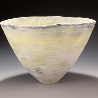 Carol Snyder (Contemporary) 'Sunset', 2019  Porcelain 5 1/4h x 7 1/2d inches  $700