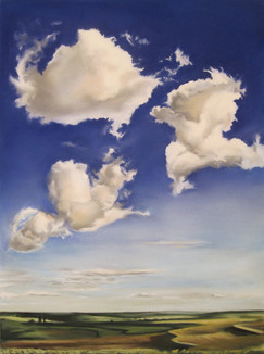 Rod Bouc 'Clouds and Terraces' 2009 Pastel on paper 24 x 18 inches P.O.R.