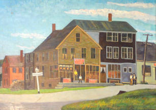 """Robert Chadeayne (1897-1981) """"Readfield, Maine"""" Oil on canvas 26 x 30 inches Labeled on verso   P.O.R."""