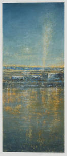 Eric Barth (Contemporary) 'A Slow Burn', 2020 Oil pastel and soft pastel on paper 8 1/2 x 3 1/2 inches  Sold