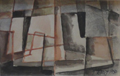 Study of Taos Pueblo, 1940 Grace Martin Taylor Watercolor 4 x 6 inches  Sold