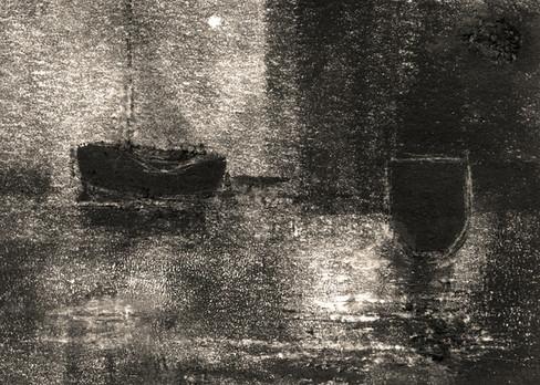 Alice Carpenter 'Landscape 20.4', 2020 Monotype with scraffito    2 1/2 x 3 1/2 inches  $500