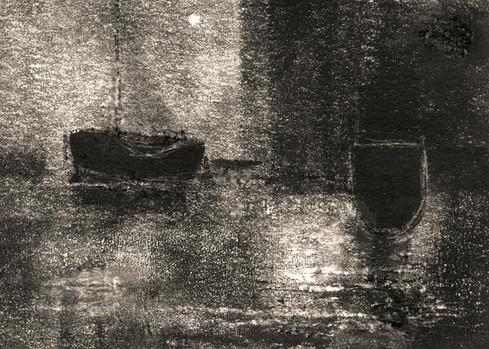 Alice Carpenter 'Landscape 20.4', 2020 Monotype with sgraffito    2 1/2 x 3 1/2 inches  $500