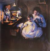 """Elizabeth Nourse """"A La Tombee du Jour"""", c. 1911 Oil on canvas 39 3/8 x 39 1/2 inches Signed lower right: Elizabeth Nourse"""