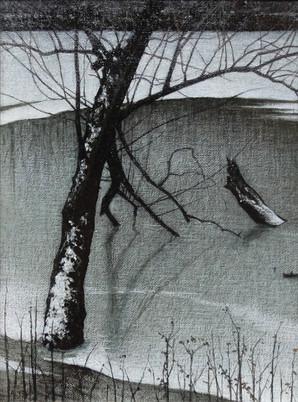 Alan Gough 'Ellensmere Thaw', 2014-16 Oil 12 x 9 inches  $1,000