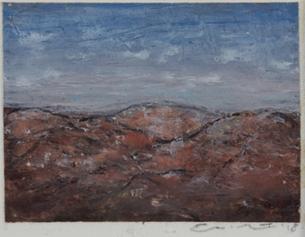 Eric Barth 'Tiny Mountainscape', 2018 Oil pastel and soft pastel on paper 1 1/2 x 2 inches  $400